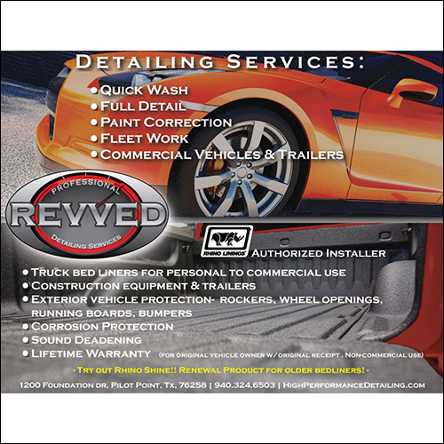 image of revved auto concepts flyer