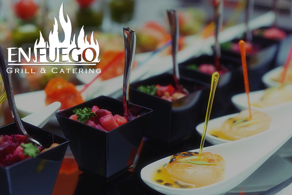 image of catered food by En Fuego Catering